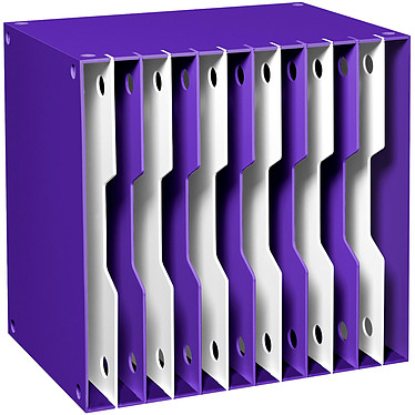 CEP Gloss Module de classement évolutifs 12 compartiments Violet Bloc de classement 12 compartiments évolutifs 24 x 32 cm ouverts coloris Violet