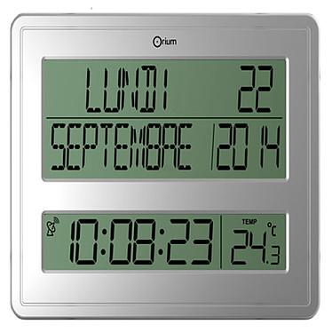 Orium Horloge digitale calendrier Horloge digitale radio contrôlée à piles