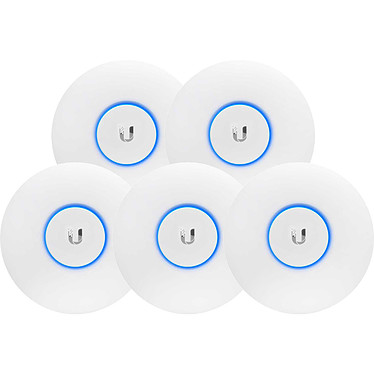 Ubiquiti Unifi UAP-AC-LITE x 5 Point d'accès intérieur Wi-Fi MIMO A/B/G/N/AC PoE Dual Band 2.4 et 5 GHz 867 Mbps