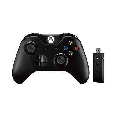 Microsoft Xbox One Wireless Controller avec adaptateur sans fil Manette de jeu sans fil pour console Xbox One, PC et Tablettes sous Windows 10