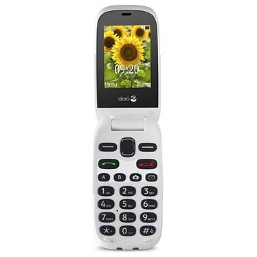 """Doro 6030 Graphite/Blanc Téléphone 2G Compatible Appareils Auditifs (HAC) - Ecran 2.4"""" 240 x 320 - Bluetooth 3.0 - 800 mAh"""