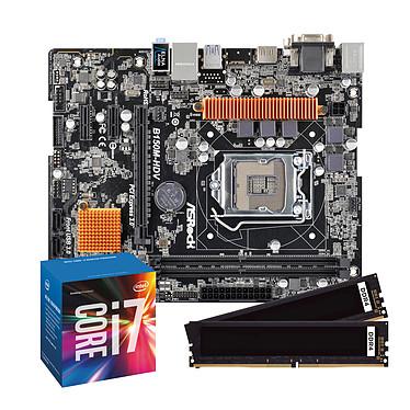 Kit Upgrade PC Core i7 ASRock B150M-HDV 8 Go Carte mère Micro ATX Socket 1151 Intel B150 Express + CPU Intel Core i7-6700 (3.4 GHz) + RAM 8 Go DDR4 2133 MHz