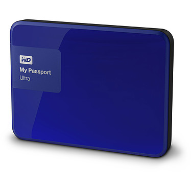 "WD My Passport Ultra 3 To Bleu (USB 3.0) Disque dur externe 2.5"" sur port USB 3.0 / USB 2.0"