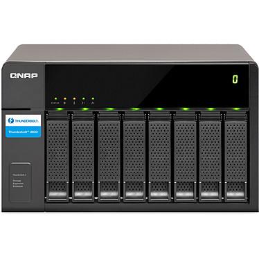 QNAP TX-800P Boîtier d'extension de volume 8 disques Thunderbolt 2 pour serveur QNAP Thunderbolt NAS