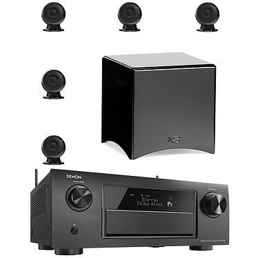 Denon AVR-X4200W Noir + Cabasse pack Eole 3 5.1 WS Noir