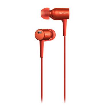 Sony MDR-EX750NA Rouge Écouteurs intra-auriculaires Hi-Res Audio Antibruit avec télécommande et micro