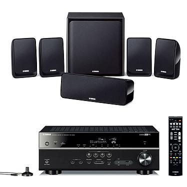 Yamaha RX-V579 Noir + Yamaha NS-P20 Ampli-tuner Home Cinéma 7.2 3D-Ready avec HDMI 1.4, HDCP 2.2, Ultra HD 4K, Wi-Fi, Bluetooth, DLNA, AirPlay et MusicCast + Pack d'enceintes 5.1