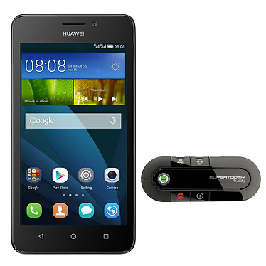 "Huawei Ascend Y635 Blanc + Supertooth Buddy Smartphone 4G-LTE avec écran tactile 5"" sous Android 4.4 + Kit mains libres Bluetooth pour voiture"