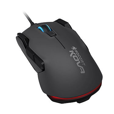 ROCCAT Kova (noire) Souris filaire pour gamer - ambidextre - capteur optique 7000 dpi - 12 boutons programmables - rétro-éclairage RGB