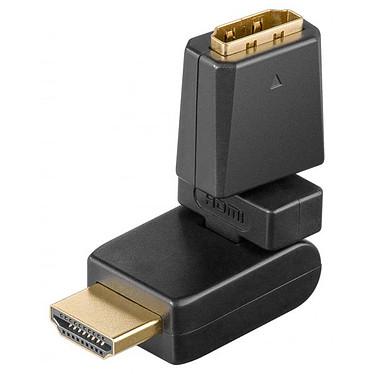 Adaptateur articulé à 360° HDMI mâle / HDMI femelle avec connecteurs plaqués or