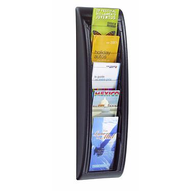 Paperflow Quick Fit wall display 5 cajas Negro Expositor de pared negro y transparente con 5 compartimentos en formato 1/3 A4