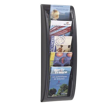 Paperflow Quick Fit présentoir mural 5 cases Noir Présentoir mural noir et transparent avec 5 cases au format A5