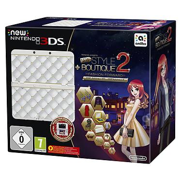 Nintendo New 3DS (blanche) + La Maison du Style 2 : Les Reines de la Mode Console de jeux-vidéo portable tactile 3D à deux écrans + Jeu La Maison du Style 2 : Les Reines de la Mode préinstallé