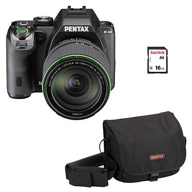 """Pentax K-S2 Noir + Objectif DA 18-50mm DC WR RE + Sacoche + SDHC 16 Go Réflex Numérique 20 MP - Ecran LCD 3"""" - Vidéo Full HD - Wi-Fi et NFC + Objectif DA 18-50mm f/4-5,6 DC WR RE + Sacoche + Carte mémoire 16 Go"""