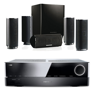 Harman Kardon AVR 171S + Harman Kardon HKTS 16 Amplificateur 7.2 - 100 W DLNA Bluetooth Spotify HDMI + Pack d'enceintes 5.1