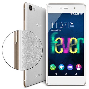 Wiko Fever 4G Blanc/Or pas cher