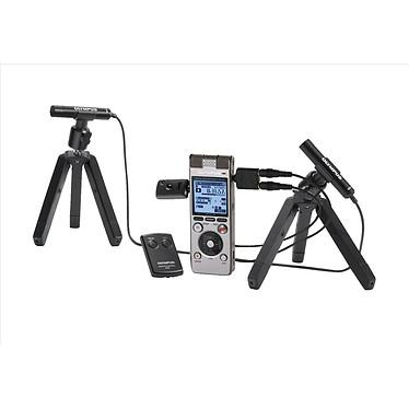 Olympus DM-650 +  ME30 Dictaphone numérique USB PCM 48 kHz 4 Go avec logement carte SD/SDHC + Microphones de conférence