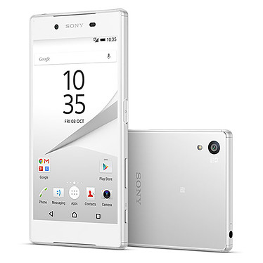 "Sony Xperia Z5 Dual Blanc Smartphone 4G-LTE Advanced Dual SIM IP68 - Snapdragon 810 8-Core 2 GHz - RAM 3 Go - Ecran tactile 5.2"" 1080 x 1920 - 32 Go - NFC/Bluetooth 4.1 - 2900 mAh - Android 5.1"