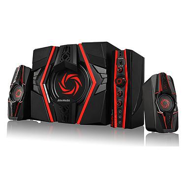 AVerMedia Ballista Trinity Kit d'enceintes 2.1 (77 W) pour gamer avec panneau de contrôle (compatible PC, MAC, smartphones, tablettes, consoles...)