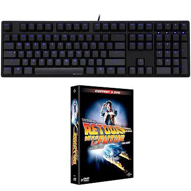 Ducky Channel One (coloris noir - MX Blue - LEDs bleues) + coffret DVD OFFERT !
