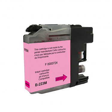 Cartouche compatible Brother LC223M (Magenta) Cartouche d'encre magenta compatible Brother LC-223M (550 pages)