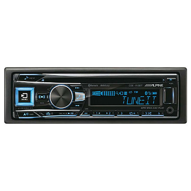 Alpine CDE-193BT Autoradio CD/MP3 compatible iPod/iPhone et Android, Bluetooth, USB, entrée auxiliaire et éclairage variable