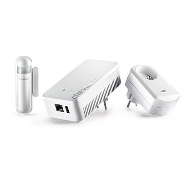 Devolo Home Control Kit de démarrage Pack composé de la box Home Control + un détecteur d'ouverture + une prise intelligente