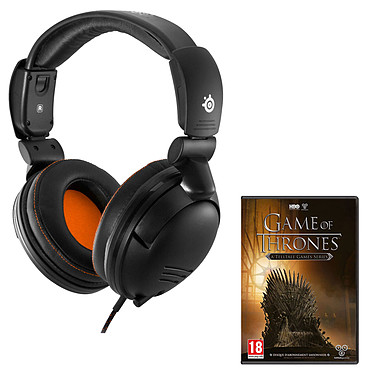 SteelSeries 5Hv3 + Game of Thrones (PC) OFFERT ! Casque démontable avec micro rétractable pour gamer nomade + Game of Thrones : A Telltale Games Series (PC) offert !