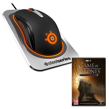 SteelSeries Sensei Wireless + Game of Thrones (PC) OFFERT ! Souris sans fil pour gamer - ambidextre - capteur laser 8200 dpi - 8 boutons programmables - rétro-éclairage RGB - station de charge - 1 jeu vidéo OFFERT !