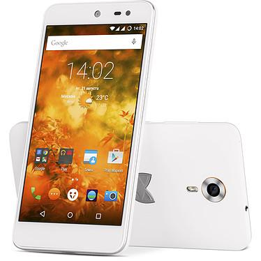 """Wileyfox Swift Blanc Smartphone 4G-LTE Dual SIM - Snapdragon 410 Quad-Core 1.2 GHz - RAM 2 Go - Ecran tactile 5"""" 720 x 1280 - 16 Go - Bluetooth 4.0 - 2500 mAh - Cyanogen 12.1"""