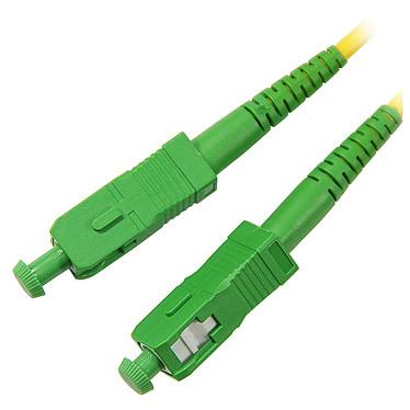 Jarretière optique simplex monomode 9/125 SC-APC/SC-APC (15 mètres) Câble fibre optique pour box internet (compatible SFR Box, Orange Livebox et Bouygues Bbox)