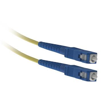 Jarretière optique simplex monomode 9/125 SC-UPC/SC-UPC (7.5 mètres) Câble fibre optique pour box internet (compatible Freebox Ô 1A et Ô 1B)