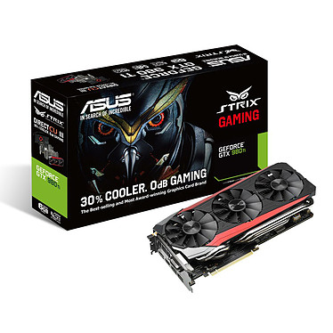 ASUS STRIX-GTX980TI-DC3-6GD5-GAMING - GTX 980 Ti 6GB 6144 Mo DVI/HDMI/Tri DisplayPort - PCI Express (NVIDIA GeForce avec CUDA GTX 980 Ti)