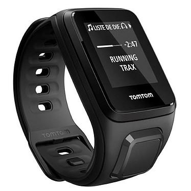 TomTom Spark Music Bracelet Fin Noir Montre de Fitness étanche avec GPS et mémoire interne 3 Go