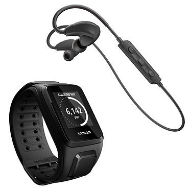 TomTom Spark Cardio + Music Bracelet Large Noir + Casque Bluetooth
