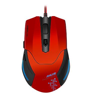 Speedlink Aklys Souris filaire pour gamer - droitier - capteur optique 2000 dpi - 5 boutons - rétro-éclairage 7 couleurs