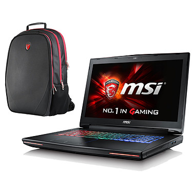 "MSI GT72 6QD-087XFR Dominator G + Sac à dos MSI Gaming OFFERT ! Intel Core i7-6700HQ 8 Go SSD 128 Go + HDD 1 To 17.3"" LED Full HD G-SYNC NVIDIA GeForce GTX 970M 3 Go Graveur DVD Wi-Fi AC/Bluetooth Webcam (garantie constructeur 1 an)"