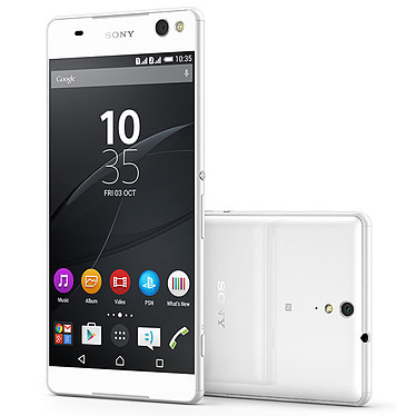 "Sony Xperia C5 Ultra Dual Blanc Smartphone 4G-LTE Dual SIM avec écran tactile Full HD 6"" sous Android 5.0"