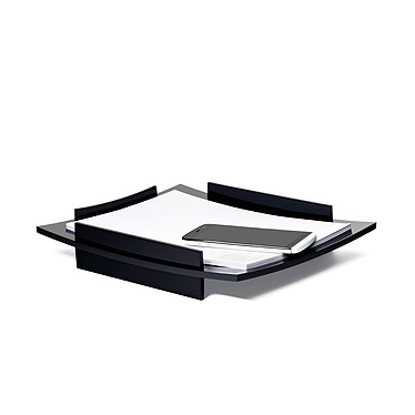 CEP  corbeille à courrier Black Diamond Corbeille à courrier en polystyrène de 6 cm de hauteur coloris noir
