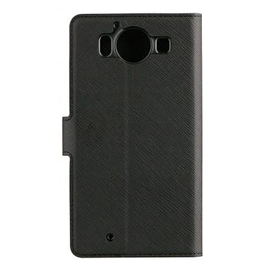 xqisit Etui Folio Wallet Viskan Noir Microsoft Lumia 950 pas cher