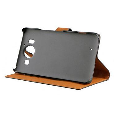 xqisit Etui Folio Wallet Slim Noir Microsoft Lumia 950 pas cher