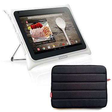 "QOOQ V3 16 Go Blanc + Housse de protection OFFERTE ! Tablette Internet - NVIDIA Tegra 4 Quad-Core Cortex-A15 1.9 GHz 1 Go 16 Go 10"" LED tactile Wi-Fi N/Bluetooth Webcam Android KitKat 4.4.2 + Housse"