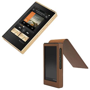 Cowon Plenue 1 Gold + Étui cuir OFFERT ! Lecteur audio HD 128 Go + Étui en cuir haute qualité