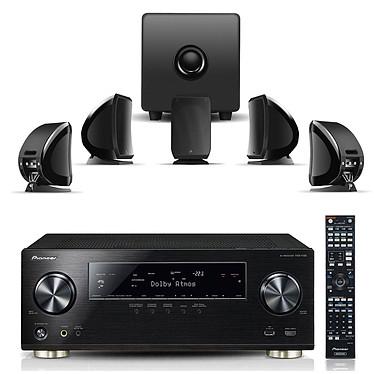 Pioneer VSX-1130-K + Focal Sib & Cub 3 Jet Black Ampli-tuner AV 7.2 canaux avec Dolby Atmos, MCACC PRO, 4K Ultra HD Scaler, 7 entrées HDMI, Audio Hi-Res, Spotify, Wi-Fi et Bluetooth + Pack d'enceintes 5.1