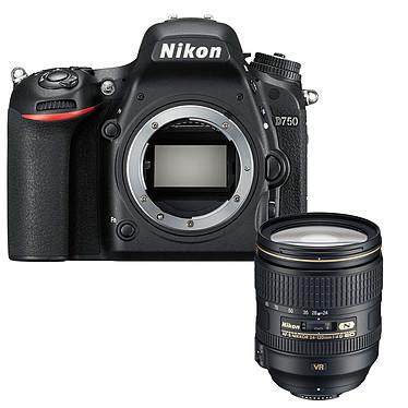 "Nikon D750 + AF-S 24-120MM F/4 VR Réflex Numérique 24.3 MP - Ecran inclinable 3.2"" - Vidéo Full HD 1080p - Wi-Fi + Objectif AF-S NIKKOR 24-120MM F/4G ED VR"
