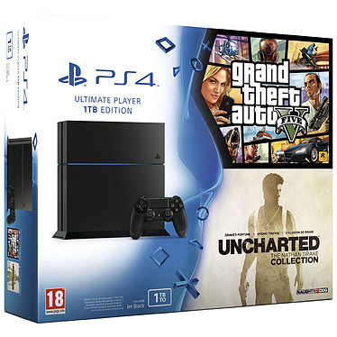Sony PlayStation 4 (1 To) + Grand Theft Auto V (GTA 5) + Uncharted : The Nathan Drake Collection