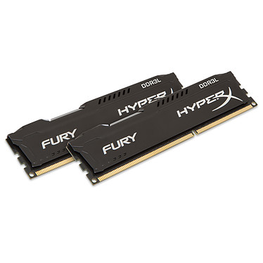 HyperX Fury 8 Go (2 x 4 Go) DDR3L 1600 MHz CL10 Kit Dual Channel RAM DDR3L PC12800 - HX316LC10FBK2/8