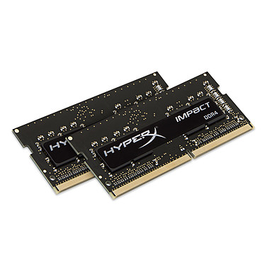 HyperX Impact SO-DIMM 32 Go (2 x 16 Go) DDR4 2400 MHz CL14 Dual Channel RAM SO-DIMM DDR4 PC4-19200 - HX424S14IBK2/32