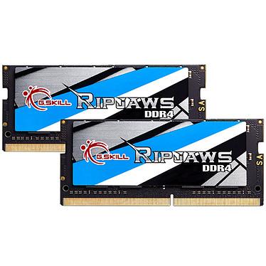 G.Skill RipJaws Series SO-DIMM 16 Go (2 x 8 Go) DDR4 2666 MHz CL18 Kit Dual Channel 2 barrettes de RAM SO-DIMM PC4-21300 - F4-2666C18D-16GRS (garantie à vie par G.Skill)