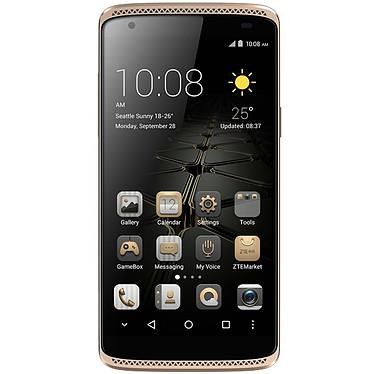 "ZTE Axon Mini Or Smartphone 4G-LTE Dual SIM - Snapdragon 616 8-Core 1.5 GHz - RAM 3 Go - Ecran tactile 5.2"" 1080 x 1920 - 32 Go - NFC/Bluetooth 4.0 - 2800 mAh - Android 5.1"